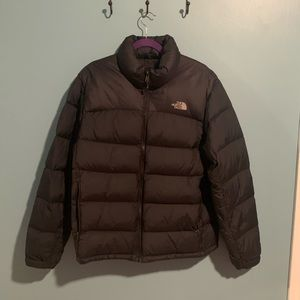 North Face Mens Black Nuptse Puffer Jacket Large L